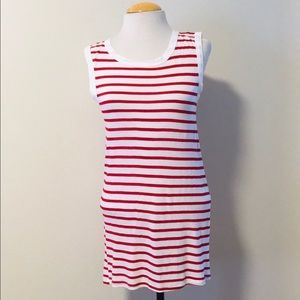 Michael Stars red and white striped tank top